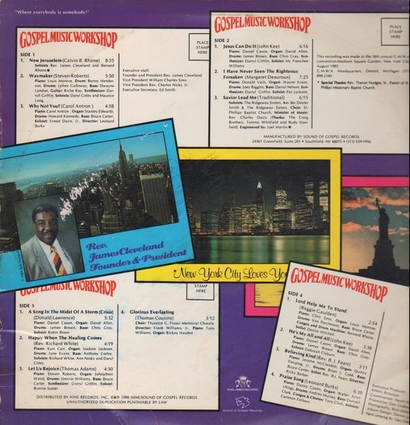 Gospel music workshop of america (+poster) by Various, LP x 2 with  recordsale