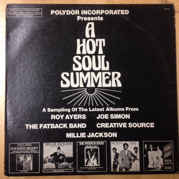 Millie Jackson, Joe Simon, a.o. A Hot Soul Summer (PROMO / SINGLE SIDED)