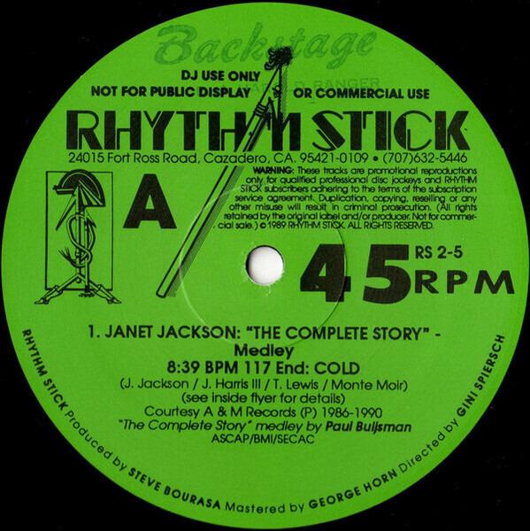 JANET JACKSON / THE KLF / CELINE DION A.O. - Rhythm Stick 2-5 (PROMO) - 12 inch x 2