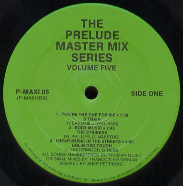 D TRAIN, THE STRIKERS UNLIMITED TOUCH, GAYLE ADAMS - The Prelude Master Mix Series - Volume Five - LP