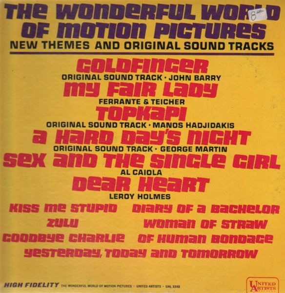 VARIOUS - The Wonderful World Of Motion Pictures - New Themes Original Sound Tracks - 33T