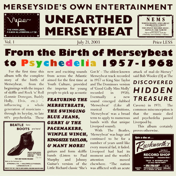 #<Artist:0x007faf47b78088> - Unearthed Merseybeat Vol.1 - From The Birth Of Merseybeat To Psychedelia 1957-1968