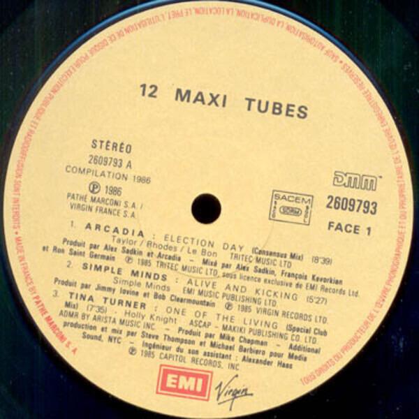 Tina Turner / Talk Talk / Pet Shop Boys a.o. 12 Maxi Tubes