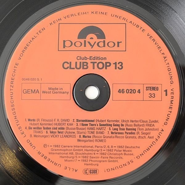 Culture Club, Abba, a.o. 16 top hits - januar / februar 1983