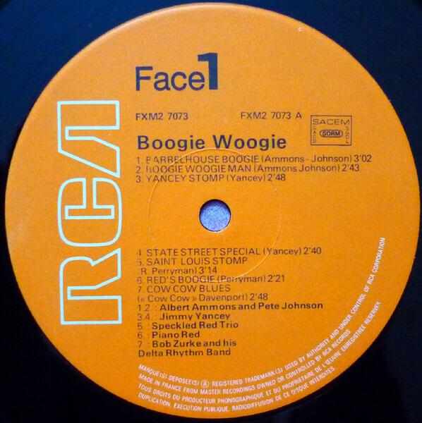 Bob Zurke, Sidney Bechet, Count Basie, a.o. 29 Boogie Woogie Originaux (GATEFOLD)