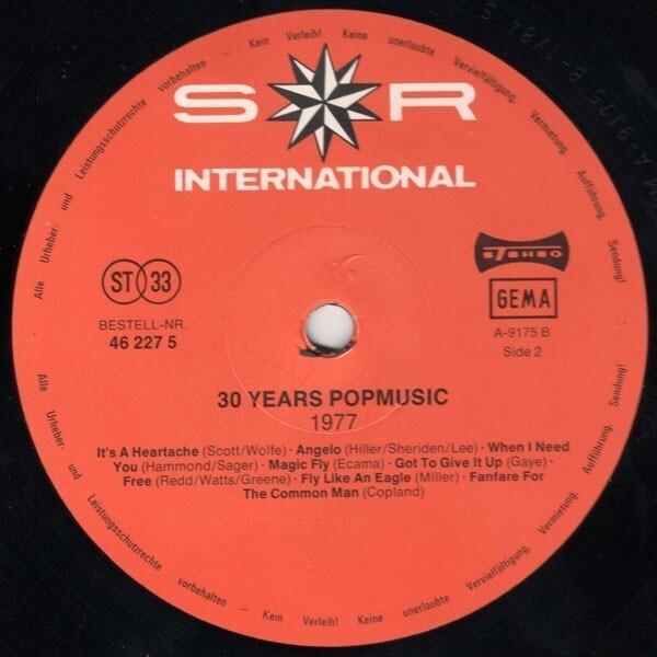 1977, Marvin Gaye, Steve Miller Band, Boney M. ... 30 Years Popmusic 1977