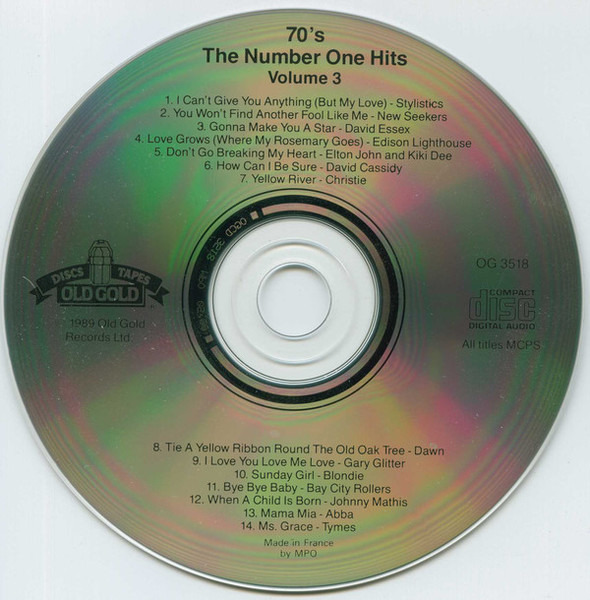Elton John & Kiki Dee / Abba / Blondie a.o. 70's Number Ones Volume 3