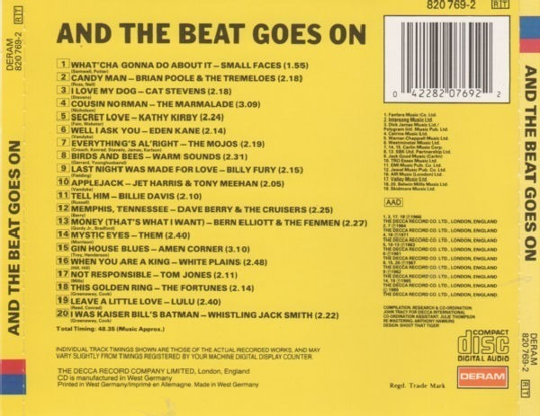 Small Faces,Cat Stevens,The Marmalade,u.a And The Beat Goes On