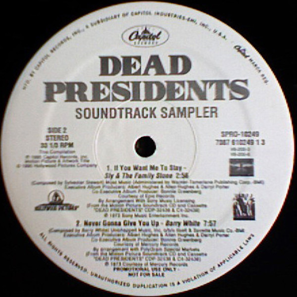 Isaac Hayes, James Brown, Barry White, a.o Dead Presidents Soundtrack Sampler