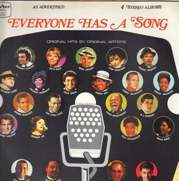 DORIS DAY, JUDY GARLAND, BRENDA LEE, PAUL ANKA A.O - Everyone Has A Song - LP x 4