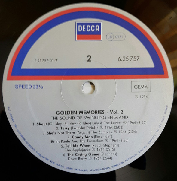 Dave Berry / The Zombies / The Mojos a.o. Golden Memories - The Sound Of Swinging England - Vol. 2