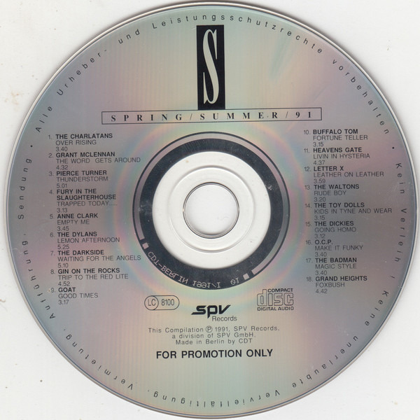 Spv new releases spring / summer / 91 by Various, CD with recordsale