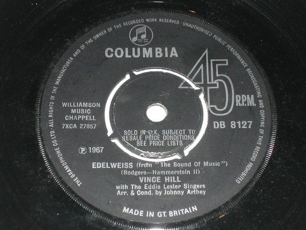Vince Hill - Edelweiss (4 Prong Pushout Centre)