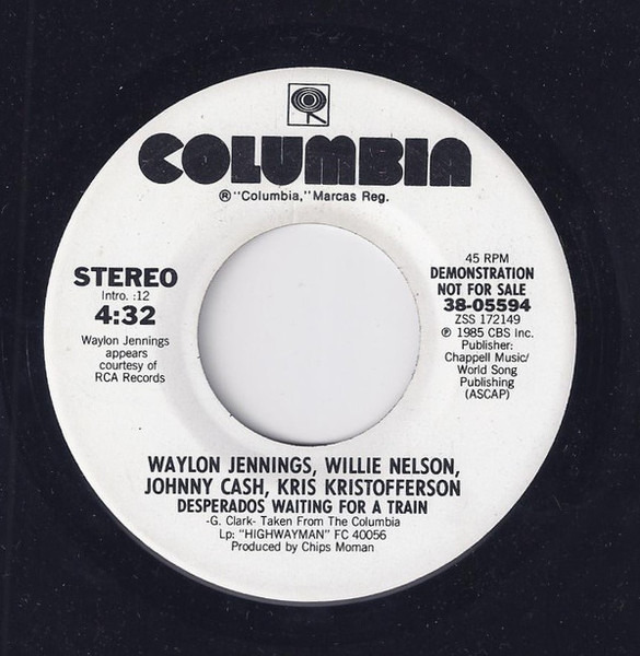 Desperados Waiting For A Train By Waylon Jennings Willie Nelson Johnny Cash Kr 7inch X 1 With Recordsale Ref 3111950696