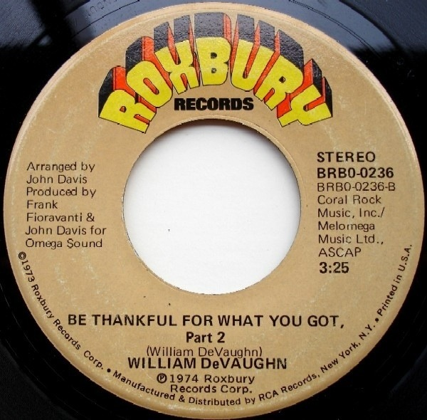 #<Artist:0x007faf46bcf550> - Be Thankful for What You Got