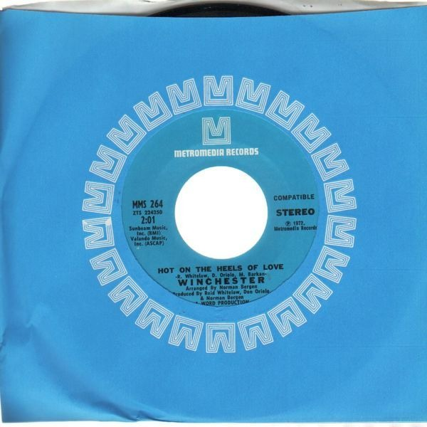 WINCHESTER - Hot On The Heels Of Love - 7inch x 1
