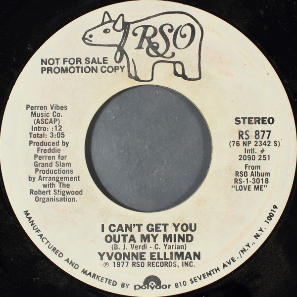 Yvonne Elliman I Can't Get You Outa My Mind